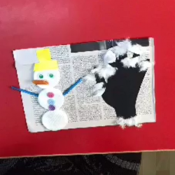 Χειμωνιάτικος πίνακας κατασκευασμένος με απλά υλικά που υπάρχουν σε κάθε σπίτι!!!