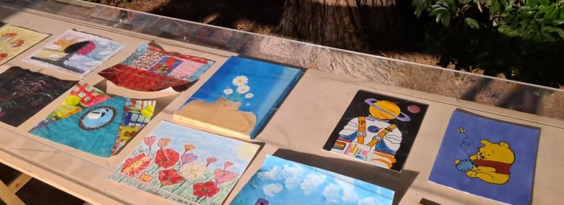 Έκθεση Ζωγραφικής Παιδιών & Εφήβων με θέμα : << Μένουμε σπίτι... και δημιουργούμε>>, Δελτίο Τύπου.